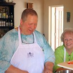 Chef Matthew his wife Donna stopping by to learn how to cook West Indian style.