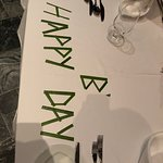 birthday message on dining table at ocean grill