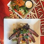 Healthy salad and delicious flank steak special! Tasty and beautiful!
