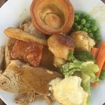 This was apparently a small Sunday lunch you Mat have a small or regular, huge