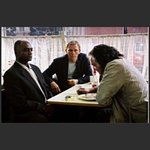 A scene from Layer Cake which filmed in the Regency Cafe London!