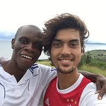 Pascal and myself on the highest hill of Ukerewe Island