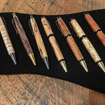 We carry lovely local artisan crafts - wooden pens by Alex Pettigrew.
