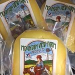 Lots of cheese in stock! How about some local Mountain View Farm gouda?