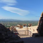 Vista de la plana de Vilafamés llegando a la entrada del Castillo