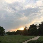 An evening walk on campus