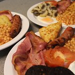 Freshly cooked full English breakfasts