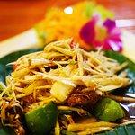 Spicy papaya salad Isaan style