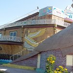 fish restaurant built as a massive boat