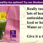 Besides coffee we offer Premium and blueberry matcha, a refreshing alternative.