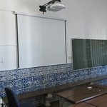 Tile work in a classroom