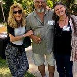 Sculptor Elon Ebanks, Wife Cynthia Collier and artist Julie Ann StricklinSan Diego Botanic Garde