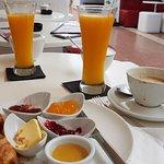 Schnelles Frühstück, wir konnten nicht warten und mussten vor dem Fotografieren  schon einmal ab