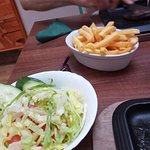 Salad and chips sides