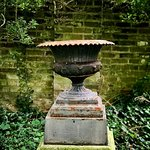 A decorative urn in the gardens.
