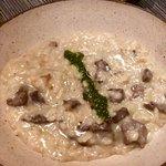 Risoto de Gorgonzola com iscas de filé