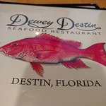 Dewey Destin's Lunch Menu