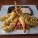 Tempura battered shrimp.