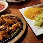 Texas Fajitas (steak, chicken and shrimp)