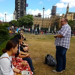 Tour group in Parliament Square
