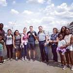 Another happy tour group at London Bridge
