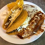 Lunch Buffet - make your own tacos, refried beans, enchilada