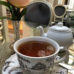 tea with elegant dinnerware