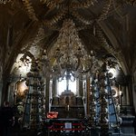 Human bone chandelier