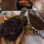 300gm steak - with pepper sauce and fries - yum