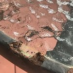 Rust damaged veranda table, not suitable for young children to grab