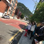 on our way to the Gyeongbok palace