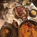 Main course - Steak and paella