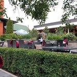 Best restaurant in a cozy garden.