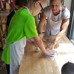 Kids classes are great fun.  Homemade tortillas being made here.
