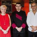 Restaurant Namasté Owners Georgios & Chris with sous-chef Theofanis