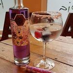 Parma Violet Gin and Tonic