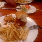 Meatball Sliders with fries