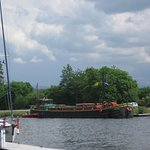 Fingal moored ready to start cruise