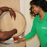 Home made rum straight from the barrel!