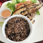 Grilled Fish peas and rice at My Dees