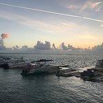 Sun rise over Caicos bank