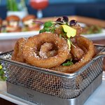 Onion rings and sliders