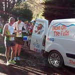 Serving thirsty runners at the Derwent 10