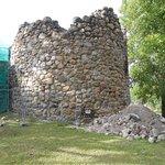 Fästningsruin vid ön`s västra del.