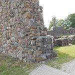 Del av fästningsruinen.