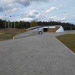 Del av sportanläggningen 300 meter från fästningsruinen.