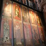 Mediaeval paintings on the back of the choir stalls