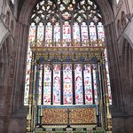 High altar with the wonderful West window behind