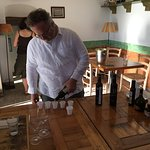 The owner shares his love of local olive oils