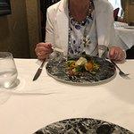 Delicious sea bass, cod and scallops